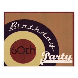Retro Rock n' roll birthday party Card