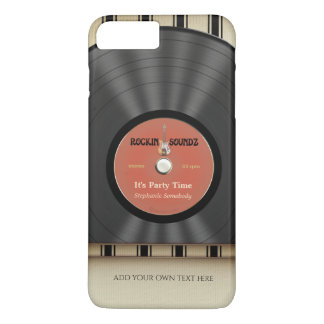 Retro Rock Vinyl LP Record iPhone 7 Plus Case