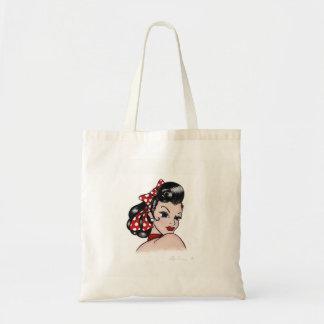 Retro Rockabilly Tattoo Gal Tote Bag