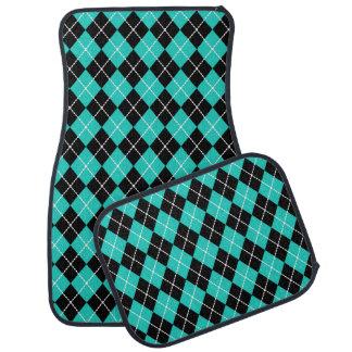 Retro Rockabilly Turquoise Car Mats Set Gift