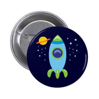 Retro Rocket Pin