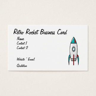Retro Rocket Business Card