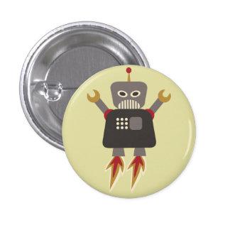 Retro Rocket Cartoon Robot Flair 3 Cm Round Badge