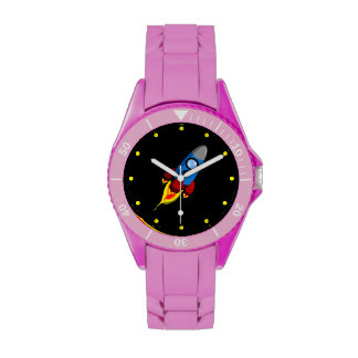 Retro Rocket Wrist Watch