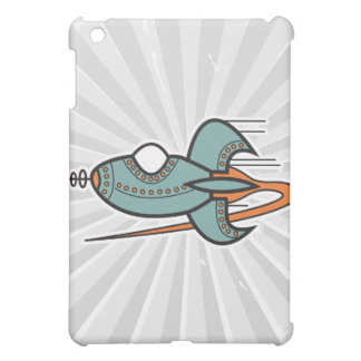 retro rocket iPad mini cover