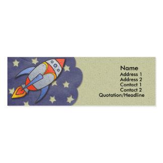 Retro Rocket Kids Skinny Profile Cards Pack Of Skinny Business Cards