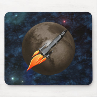 Retro Rocket Mouse Pad