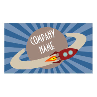 Retro Rocket & Planet Pack Of Standard Business Cards