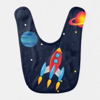 Retro Rocket & Planets in Outer Space Bibs