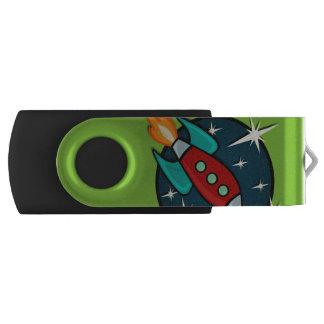 RETRO ROCKET SHIP 8GB USB FLASH DRIVE