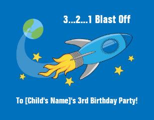 Rocket ship birthday invitations announcements zazzle retro rocket ship birthday invitation 5x7 filmwisefo