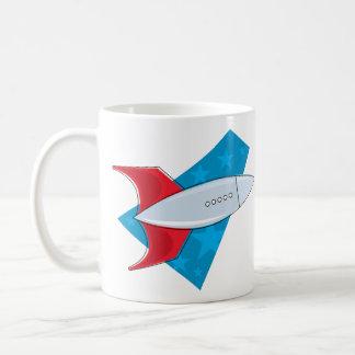 Retro Rocket Ship Coffee Mug