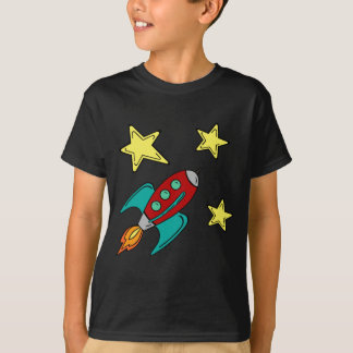 retro rocket ship t-shirt