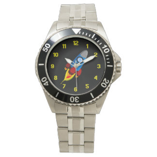 Retro Rocket Wrist Watch
