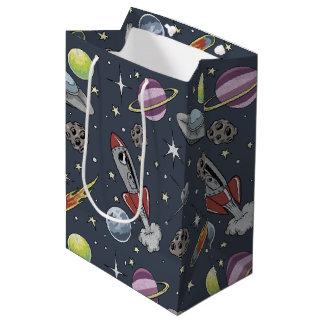 Retro Rockets Medium Gift Bag