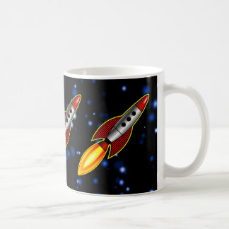 Retro Rockets Coffee Mug
