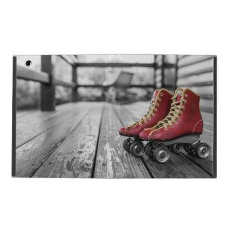 Retro roller skates iPad folio case
