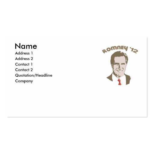 RETRO ROMNEY '12 BUSINESS CARD TEMPLATE