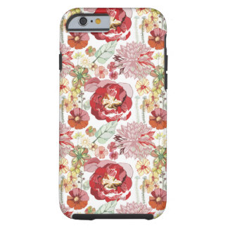 retro roses abstract chysanthemums iPhone 6 case Tough iPhone 6 Case