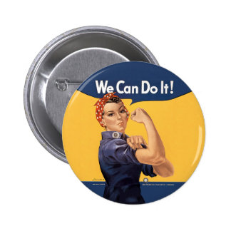 Retro Rosie We Can Do It 6 Cm Round Badge