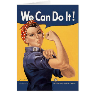 Retro Rosie We Can Do It Card