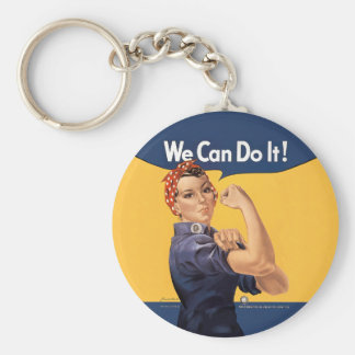 Retro Rosie We Can Do It Key Ring