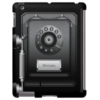 Retro Rotary Dial Wall Phone iPad case