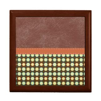 Retro Rustic Brown Grunge Pattern Gift Box