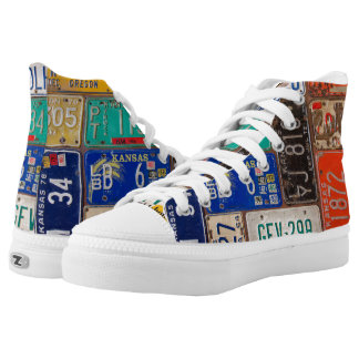 retro rusty license plate collection high tops