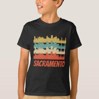 Retro Sacramento CA Skyline Pop Art T-Shirt