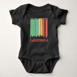 Retro Sacramento Skyline Baby Bodysuit
