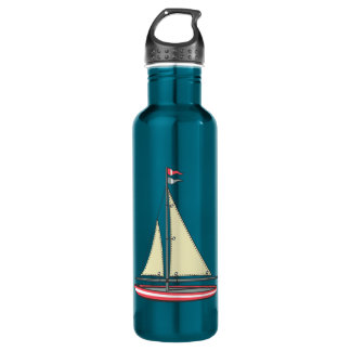 Retro Sailboat 710 Ml Water Bottle