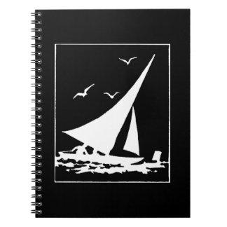 Retro Sailboat Silhouette Notebook