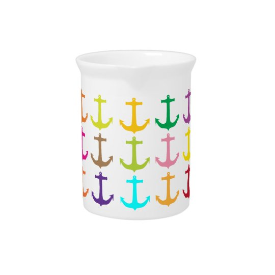 Retro sailors nautical anchor pattern pitchers