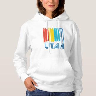 Retro Salt Lake City Utah Skyline Hoodie
