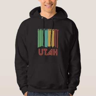 Retro Salt Lake City Utah Skyline Hoodie