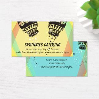 Retro salt pepper chef catering business card