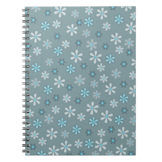 Retro sample flowers notebooks