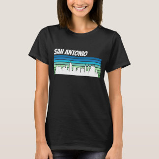 Retro San Antonio Skyline T-Shirt