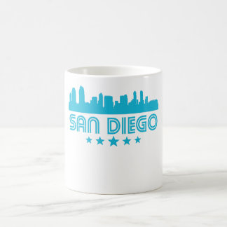 Retro San Diego Skyline Coffee Mug