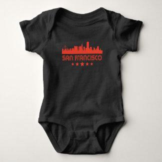 Retro San Francisco Skyline Baby Bodysuit