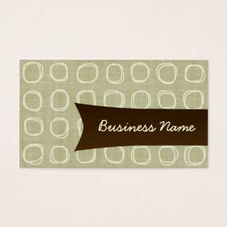 Retro Sand and Beige Business Card