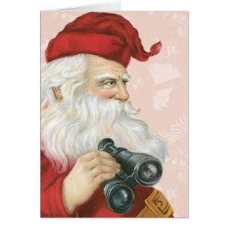 Retro Santa Claus Card