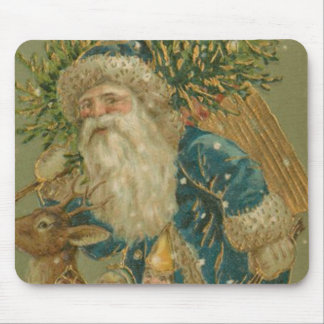 Retro Santa Claus from 1900's Mouse Pad