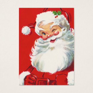 Retro Santa Claus Name Tags