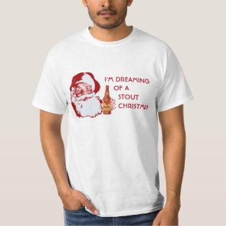 Retro Santa Claus Stout Beer Christmas T-Shirt