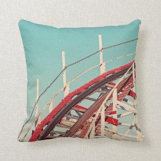 Retro Santa Cruz Boardwalk Roller Coaster Pillow