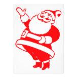 Retro Santa Custom Invitation
