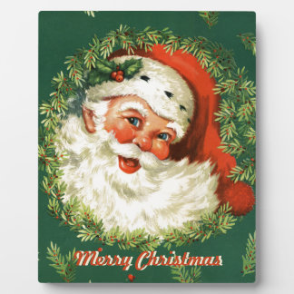 Retro Santa Decorative Plaque