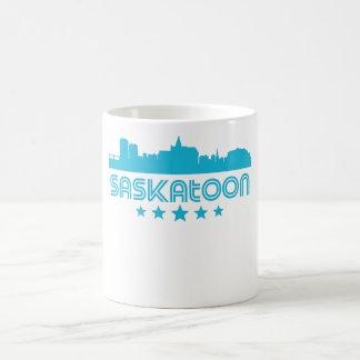 Retro Saskatoon Skyline Coffee Mug